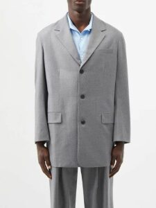 Neil Barrett - Quilted Panel Biker Track Pants - Mens - Grey