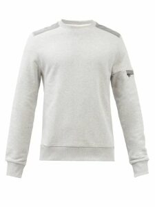 Neil Barrett - Quilted Panel Biker Track Pants - Mens - Grey