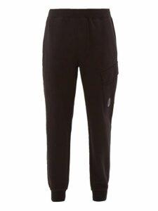 C.p. Company - Lens Loopback Cotton Track Pants - Mens - Black