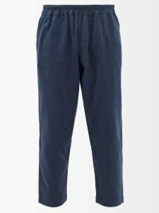 Stone Island - Cargo Pocket Cotton Jersey Track Pants - Mens - Black