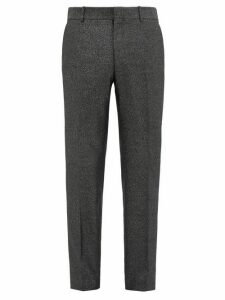 Alexander Mcqueen - Slim Leg Wool Blend Lamé Trousers - Mens - Black