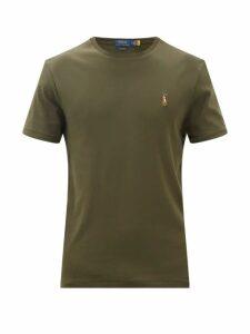 Ami - Logo Embroidered Cotton Sweatshirt - Mens - Green