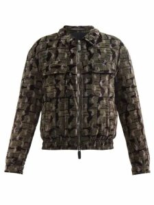 Thom Browne - Tricolour Stripe Cotton Hooded Sweatshirt - Mens - Light Grey