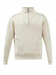 Odyssee - Breton Striped Crew Neck Cotton Sweater - Mens - Navy