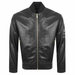 Versace Jeans Couture Leather Jacket Black