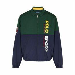 Polo Ralph Lauren Panelled Logo-printed Shell Jacket