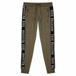 True Religion Dark Olive Cotton-jersey Sweatpants
