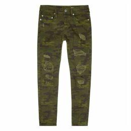 True Religion Rocco Camouflage-print Skinny Jeans