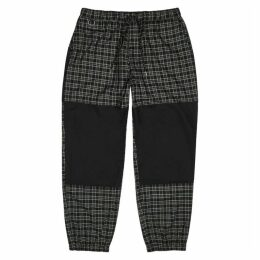 Flagstuff Checked Panelled Cotton Trousers