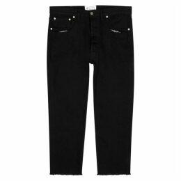Maison Margiela Black Distressed Straight-leg Jeans