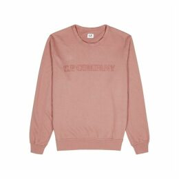 C.P. Company Dusky Pink Embroidered-logo Cotton Sweatshirt