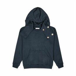 JW Anderson Navy Hooded Cotton Sweatshirt