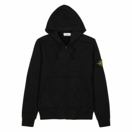 Stone Island Black Hooded Cotton Sweatshirt