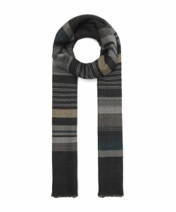 Block Stripe Herringbone Scarf
