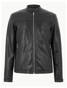 Limited Edition Faux Leather Biker Jacket