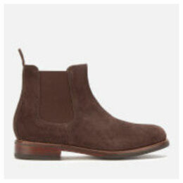 Grenson Men's Warren Suede Chelsea Boots - Chocolate - UK 7 - Brown