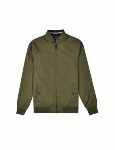 Mens Khaki Raglan Harrington Jacket, KHAKI
