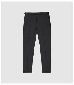 Reiss Purdue - Wool Blend Slim Fit Trousers in Charcoal, Mens, Size 38