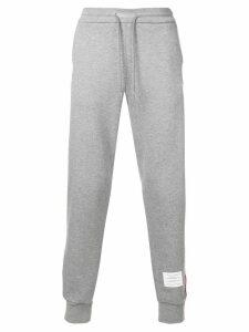 Thom Browne Rwb Stripe Loopback Sweatpants - Grey