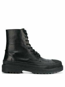 Neil Barrett military boots - Black