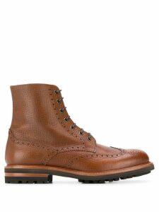 Brunello Cucinelli brogue-detail boots - Brown