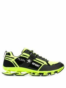 Plein Sport logo print low top sneakers - Yellow