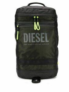 Diesel panelled mesh backpack - Black