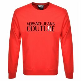 Versace Jeans Couture Logo Sweatshirt Red