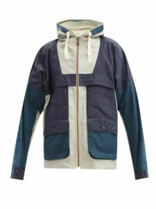 Christian Louboutin - Louis Spike Embellished High Top Suede Trainers - Mens - Blue