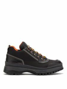 Prada - Brixxen Leather Lace Up Boots - Mens - Black