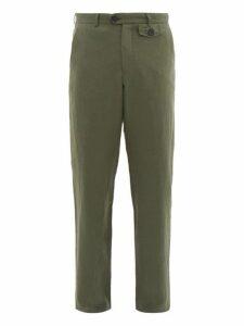 Oliver Spencer - Fishtail Linen Blend Trousers - Mens - Green