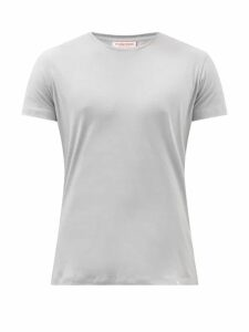Allude - Ribbed Crew Neck Cashmere Sweater - Mens - Beige