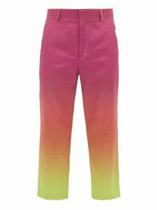 Sies Marjan - Alex Dégradé Cropped Trousers - Mens - Pink Multi