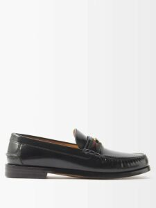 Gucci - Double Breasted Lyre Button Velvet Jacket - Mens - Blue
