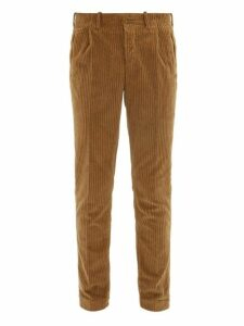 Incotex - Verve Slim Fit Corduroy Trousers - Mens - Brown