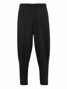 Homme Plissé Issey Miyake - Pleated Tapered Trousers - Mens - Black