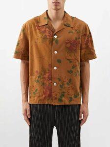 The Elder Statesman - Lizard Tie Dye Cashmere Sweater - Mens - Green White