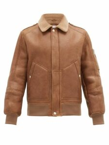 Brunello Cucinelli - Patch Pocket Shearling Jacket - Mens - Brown