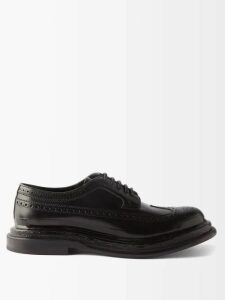 Balmain - Shearling Lined Leather Flight Jacket - Mens - Black