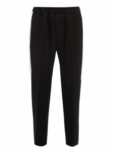 Givenchy - Side Stripe Wool Track Pants - Mens - Black