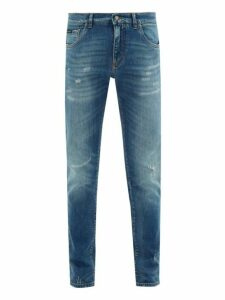 Dolce & Gabbana - Lightly Distressed Skinny Fit Jeans - Mens - Denim