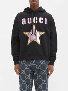 Ami - Cropped Virgin Wool Twill Trousers - Mens - Black