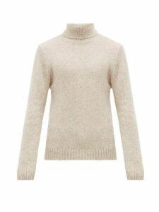 Salle Privée - Leo Alpaca Blend Roll Neck Sweater - Mens - Beige