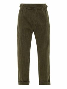 J.w. Brine - Fox Cotton Blend Corduroy Trousers - Mens - Khaki