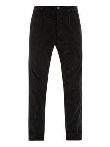 J.w. Brine - Marshall Cotton Blend Corduroy Trousers - Mens - Black