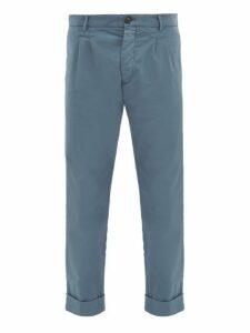 J.w. Brine - New Marshall Cotton Chino Trousers - Mens - Blue
