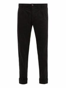 J.w. Brine - Marshall Cotton Blend Chino Trousers - Mens - Black