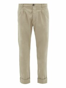 J.w. Brine - New Marshall Cotton Chino Trousers - Mens - Grey