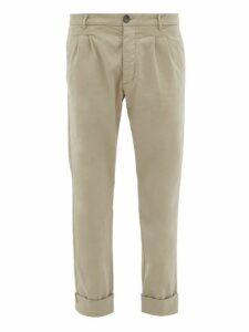 J.w. Brine - New Marshall Cotton Chino Trousers - Mens - Grey