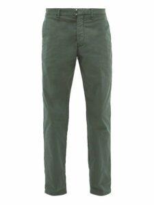 J.w. Brine - Austin Cotton Blend Herringbone Trousers - Mens - Green